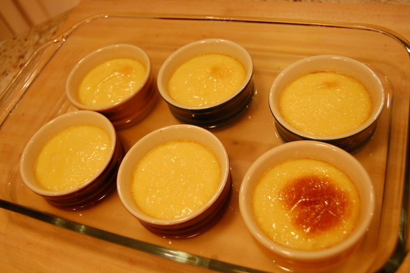 cooked flans
